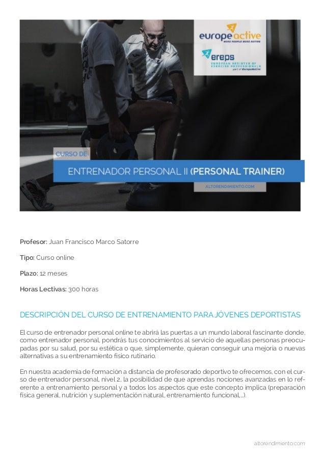 Curso de personal trainer