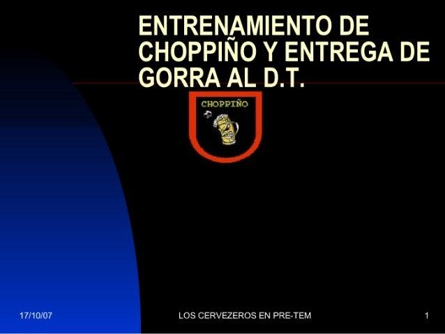 Entrenamiento De ChoppiñO Y Entrega De Gorra Al
