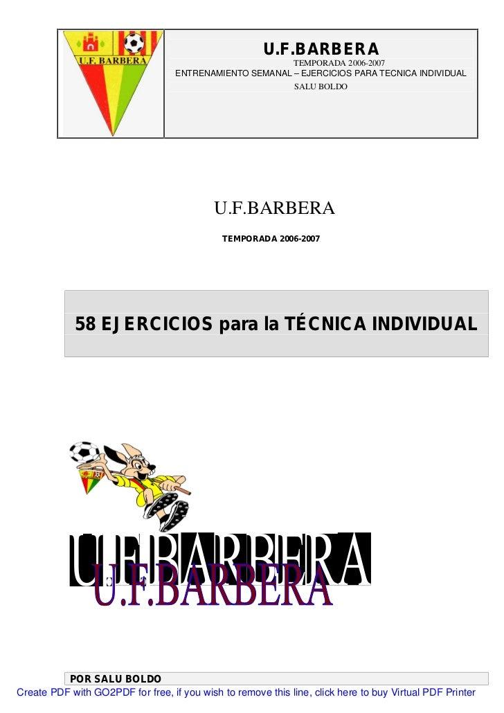 U.F.BARBERA                                                         TEMPORADA 2006-2007                                   ...