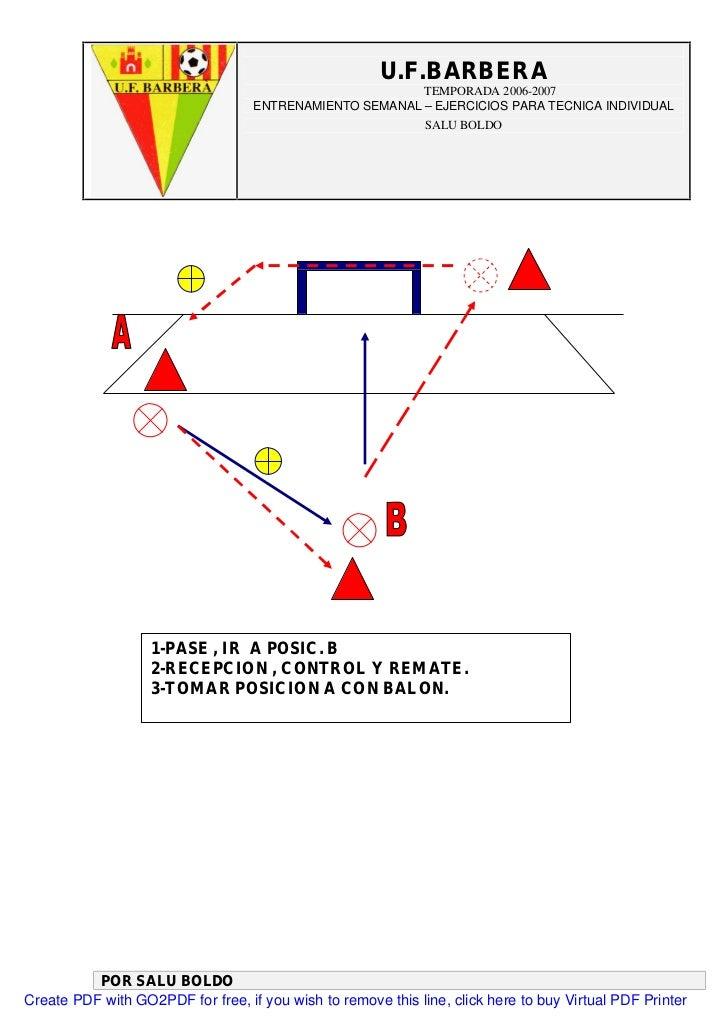 Entrenamiento 58 Ejercicios De Futbol