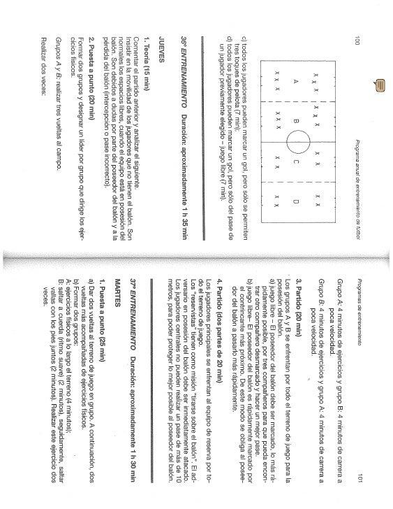 Entrenamiento de futbol (progamación anual , segunda parte)