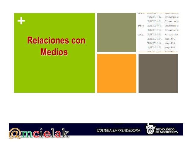 + Relaciones con Medios