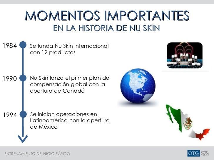 MOMENTOS IMPORTANTES EN LA HISTORIA DE NU SKIN Se funda Nu Skin Internacional con 12 productos 1984 1990 Nu Skin lanza el ...