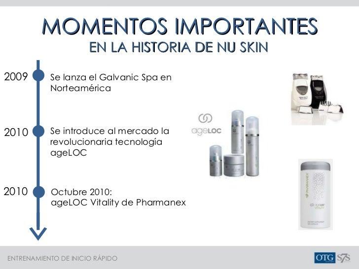 MOMENTOS IMPORTANTES EN LA HISTORIA DE NU SKIN Se lanza el Galvanic Spa en Norteamérica 2009 2010 Se introduce al mercado ...