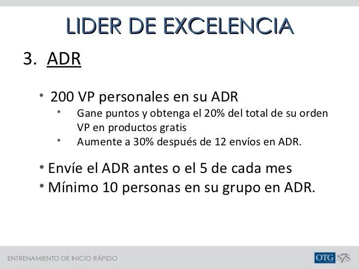 <ul><li>3.  ADR </li></ul><ul><ul><li>200 VP personales en su ADR </li></ul></ul><ul><ul><ul><li>Gane puntos y obtenga el ...