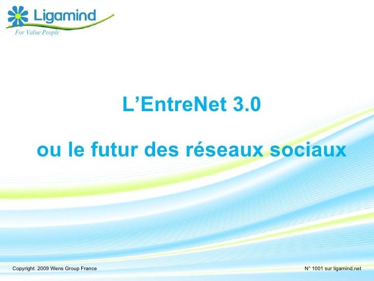 <ul><li>L'EntreNet 3.0 </li></ul><ul><li>ou le futur des réseaux sociaux </li></ul>For Value People Copyright  2009 Wens G...