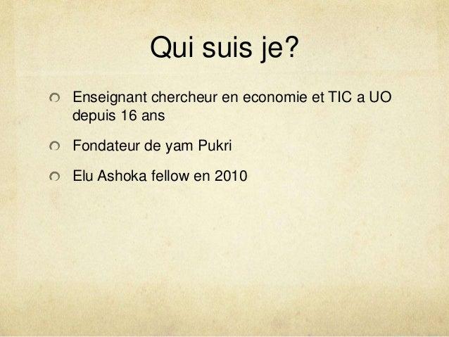 Sylvestre Ouédraogo - Experiences from Yam-Pukri Association Slide 2