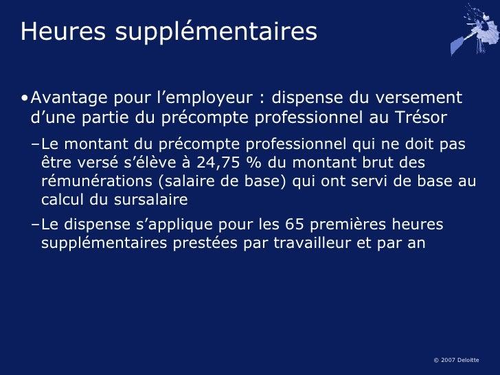Entreprendre 2007 for Calcul precompte