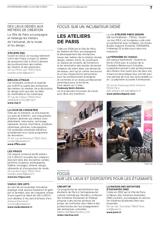 Entreprendre dans la culture paris - 157 boulevard macdonald 75019 paris ...