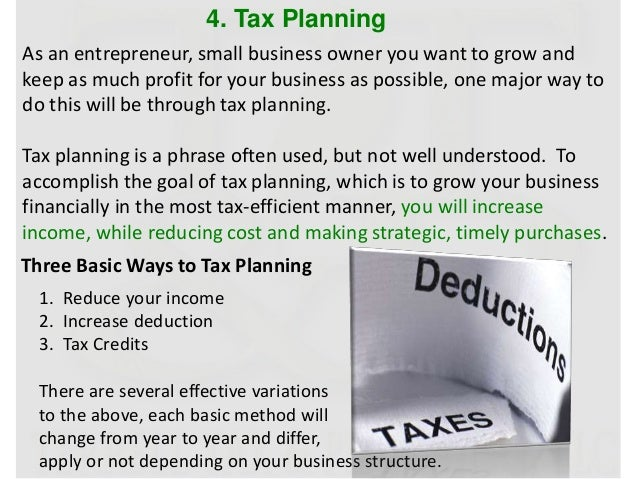 business planning taxation tips for a happy