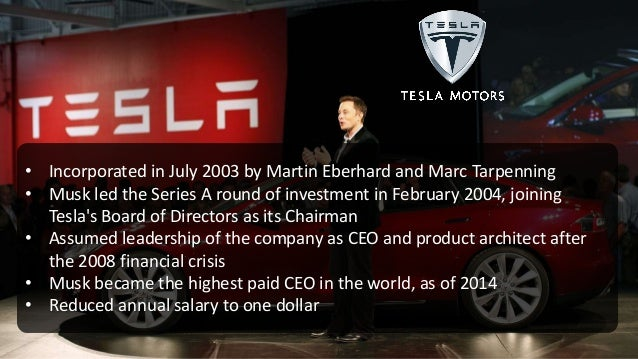 • Second largest provider of solar power systems in the United States • Musk provided concept & financial capital in 2006 ...