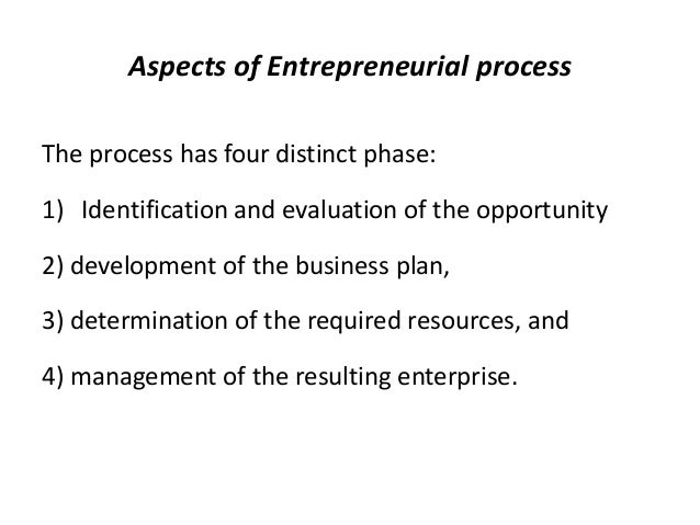 intrapreneurial process The entrepreneurship process 82 chapter 3: the entrepreneurship process 31 introduction this chapter continues the literature review aimed at completing the exploratory study that forms the basis of the final model prepared for empirical testing the first section of.