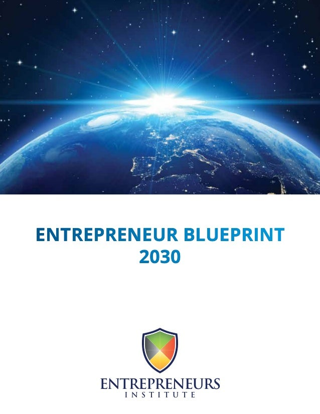 ENTREPRENEUR BLUEPRINT 2030