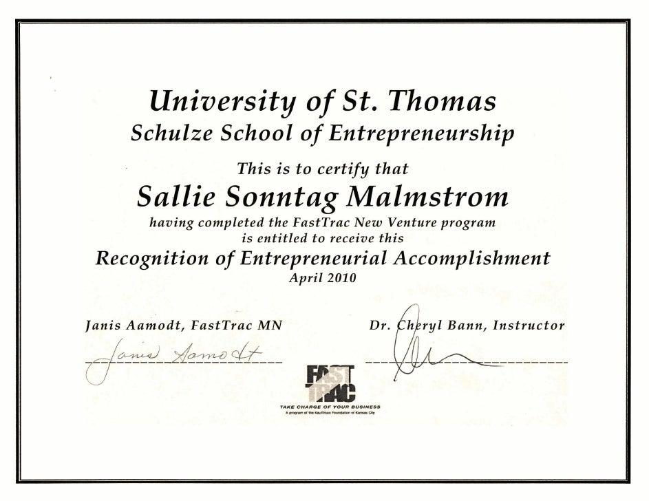 Entrepreneur Certificate 4 21 2010