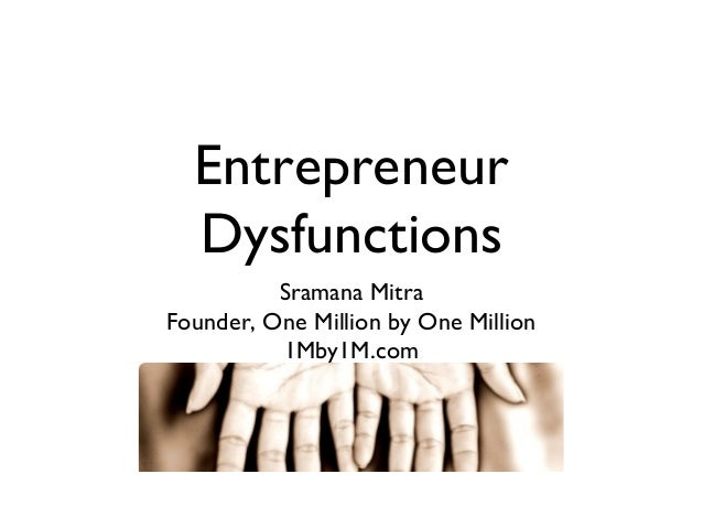 Entrepreneur Dysfunctions Sramana Mitra Founder, One Million by One Million 1Mby1M.com