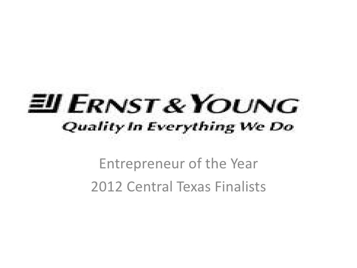 Entrepreneur of the Year2012 Central Texas Finalists