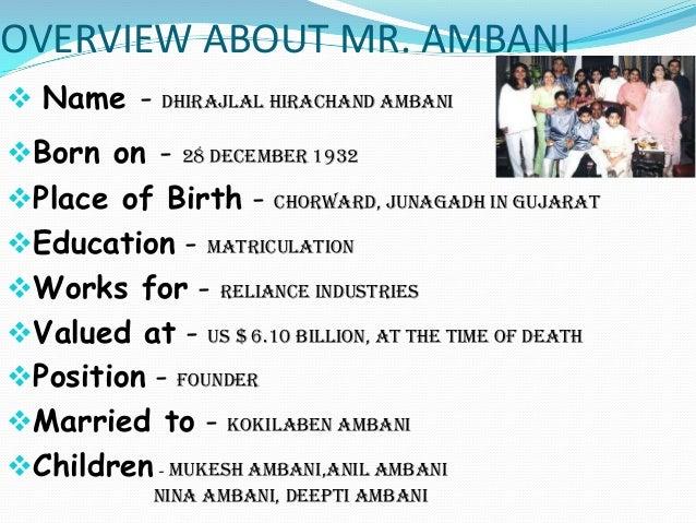 personality traits of dhirubhai ambani