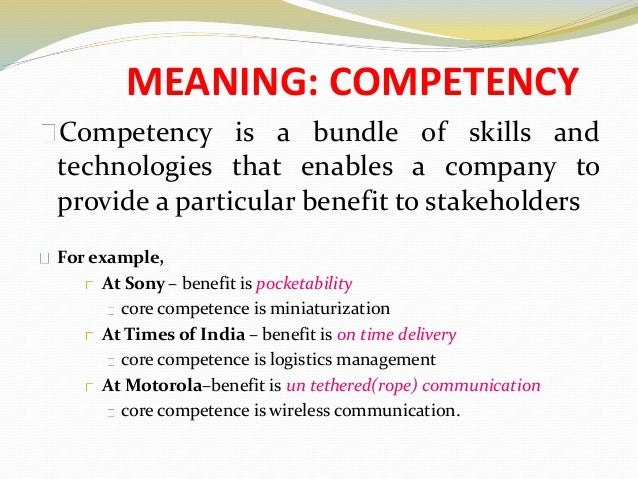 competencies meaning