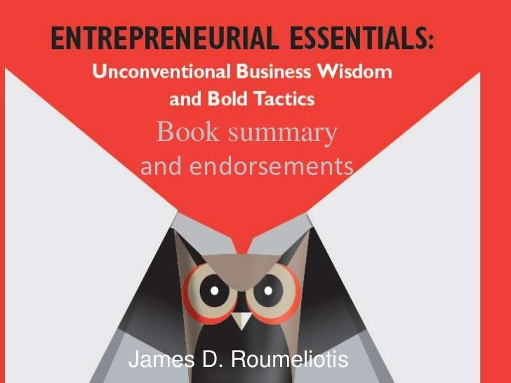 Book summary and endorsementsJames D. Roumeliotis
