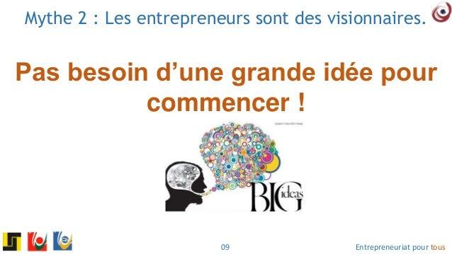 Entrepreneuriat pour tous je pense donc je peux entreprendre for Idee pour entreprendre