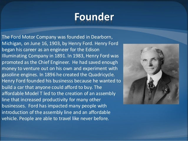 The Founder: Henry Ford