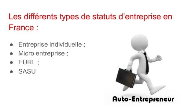Entrepreneur quel statut choisir  Slide 3