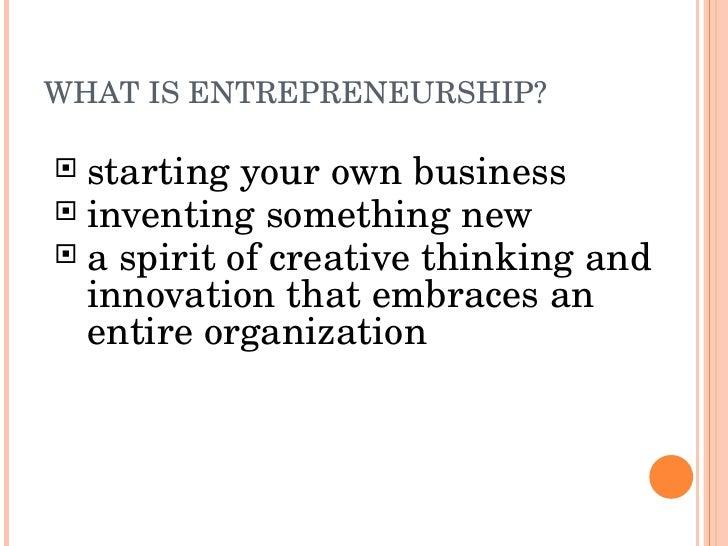Entrepreneurship Slide 2
