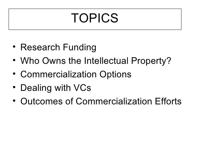 Research Grants Who Owns Intellectual Property