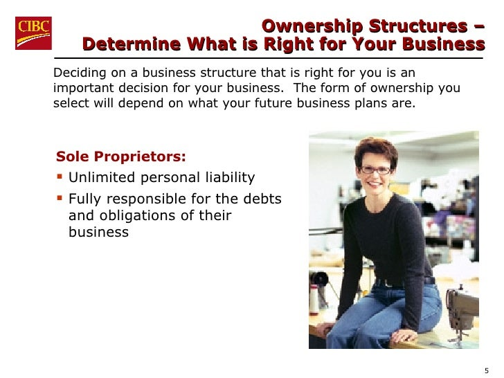 Ownership Structures –  Determine What is Right for Your Business <ul><li>Deciding on a business structure that is right f...