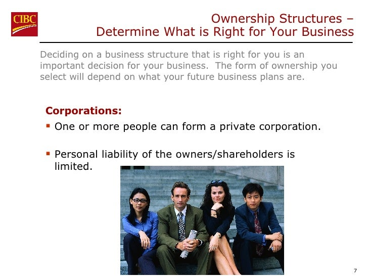 <ul><li>Deciding on a business structure that is right for you is an important decision for your business.  The form of ow...
