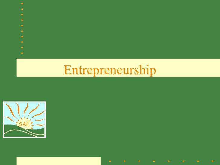 EntrepreneurshipSAE