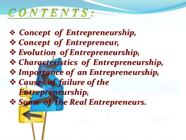 2 concept of entrepreneurship