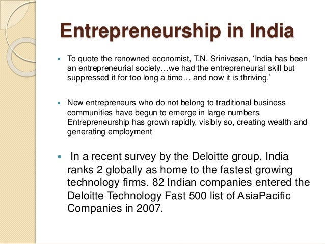 entrepreneurship in india and challenges