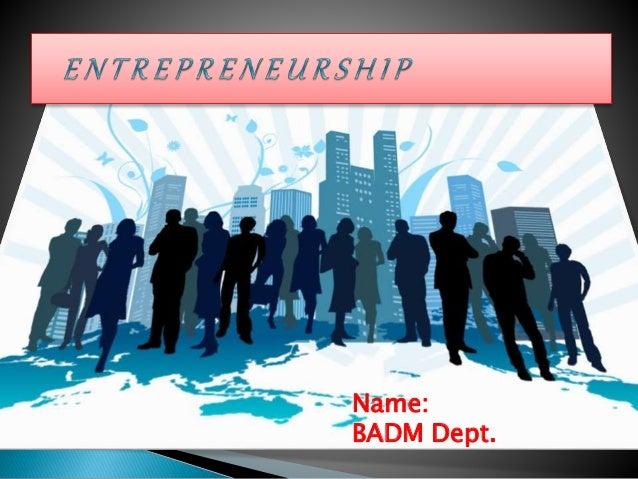 Name: BADM Dept.