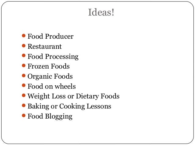 Entrepreneurship Food Business