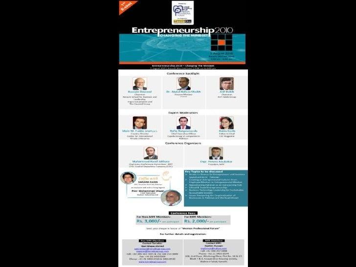 Entrepreneurship 2010-Changing mindset