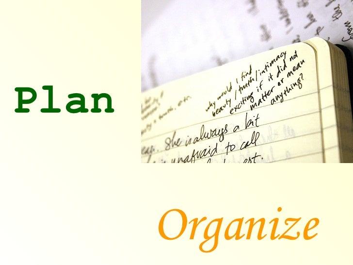 Plan Organize