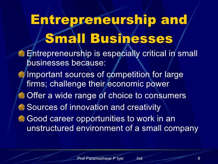 Business and Entrepreneurship