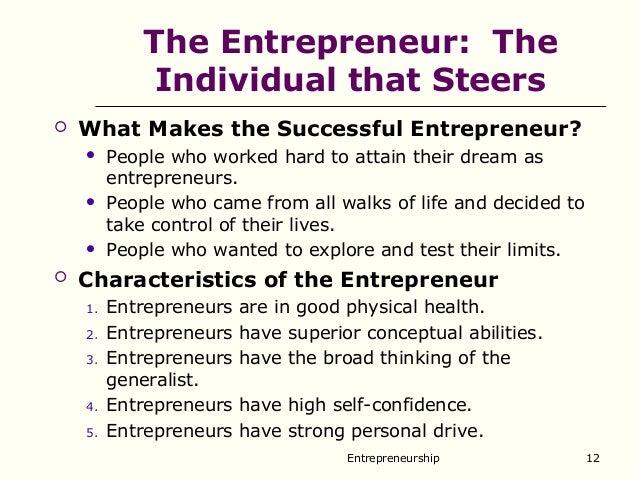 Entrepreneurship and entrepreneur
