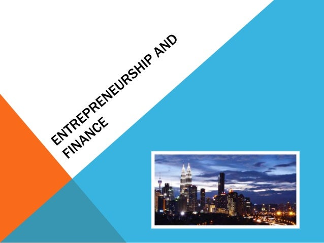A bit about entrepreneurship