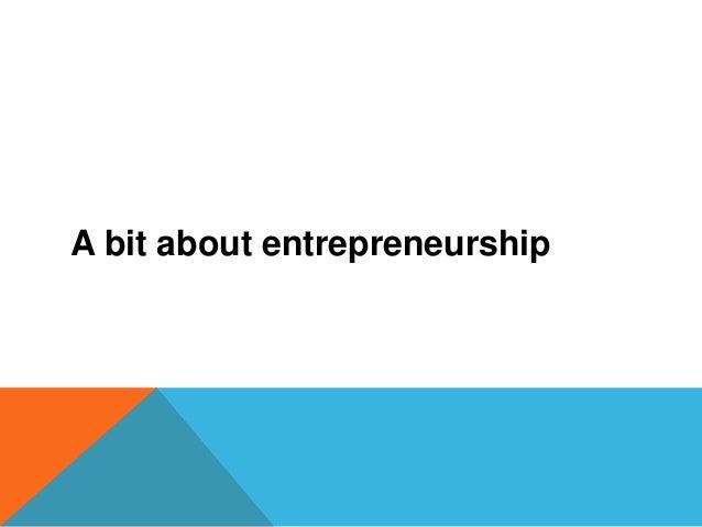 Entrepreneurship and finance Slide 2
