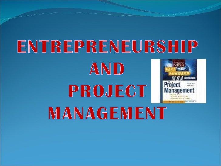 Entrepreneurship and project management