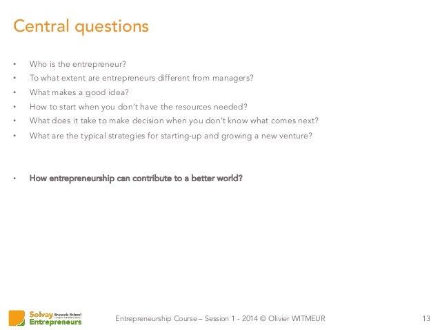 The Success Factors of an Entrepreneur