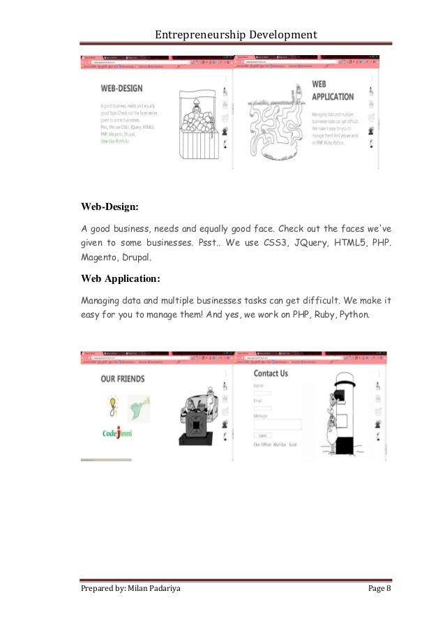 entrepreneur assignment example