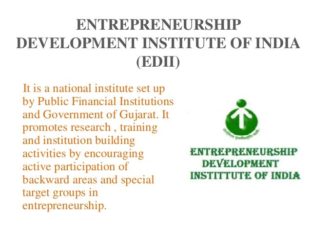 entrepreneurship development programmes