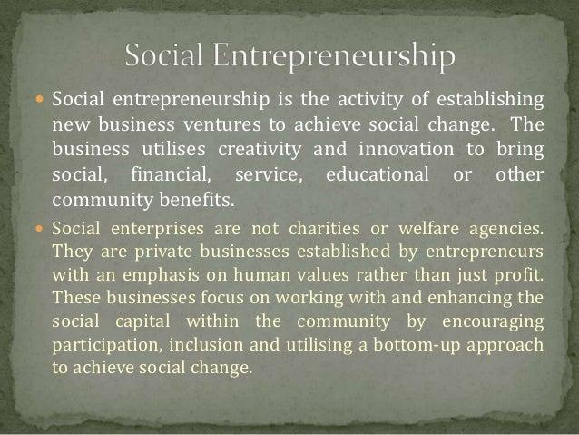 social Entrepreneurship  Slide 2