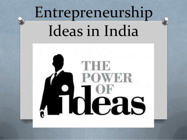 EntrepreneurshipIdeas in India