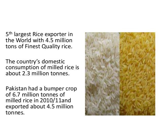 RICE EXPORT PAKISTAN 5th largest Rice exporter in the World with 4.5 million tons of Finest Quality rice. The country's do...