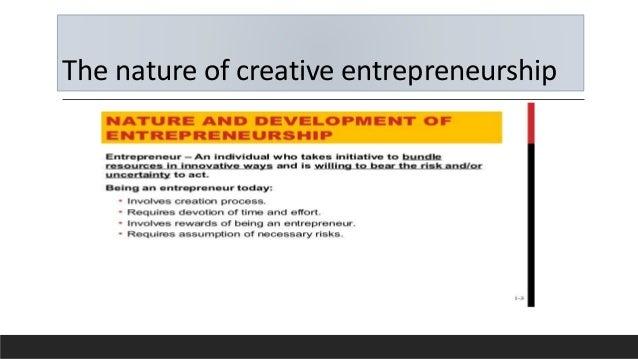 The nature of creative entrepreneurship