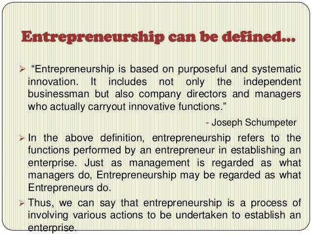 entrepreneurship is a process of giving birth to an enterprise with e